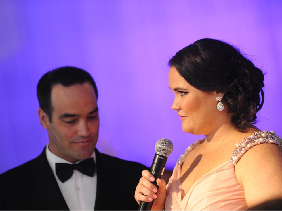 2015 Finalist Kellie McGee and Host Chris Duggan